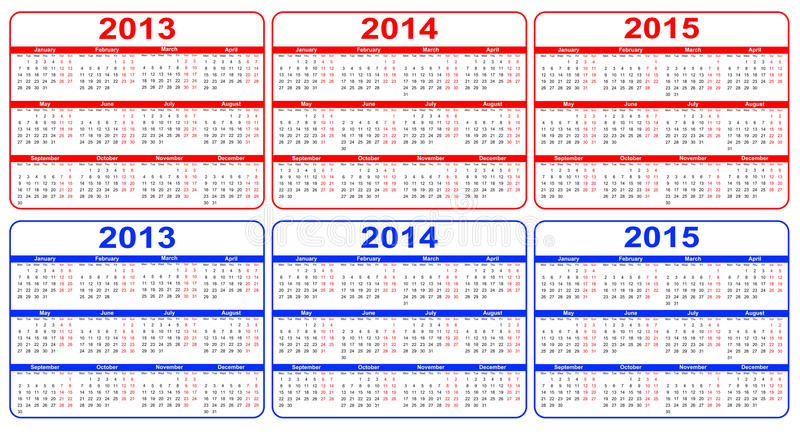 Download Calendar stock vector. Image of calendar, monday, decoration - 26633146