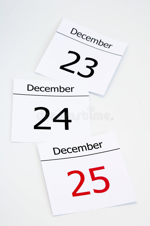 Calendar. Coming christmas