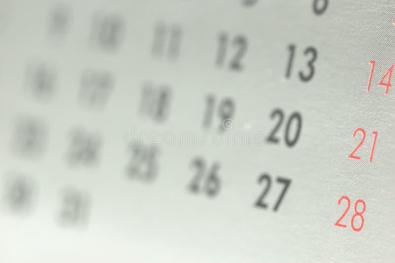 Calendar. Detail shot