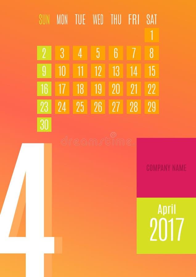 2017 Calendar royalty free stock photos