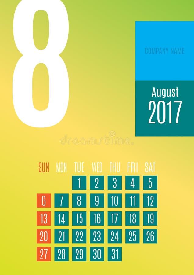 2017 Calendar royalty free stock photography