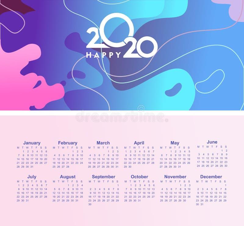 2020 calendar abstract background royalty free stock photos