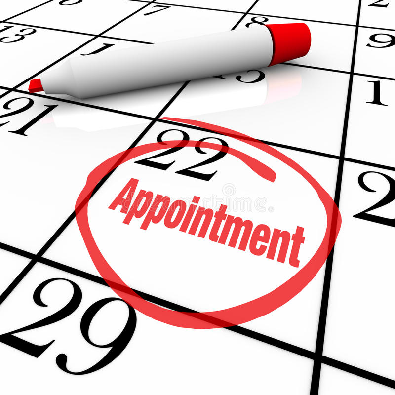 Calendar - Appointment Day Circled for Reminder royalty free illustration
