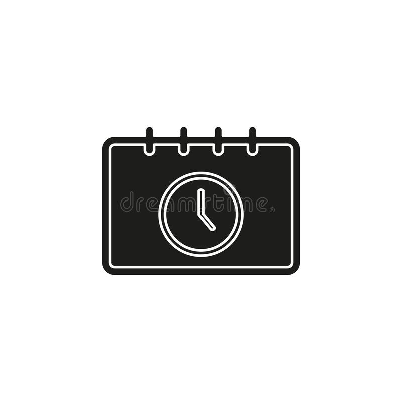 Calendar appointment icon, time and clock, day calendar. Flat pictogram - simple icon stock illustration