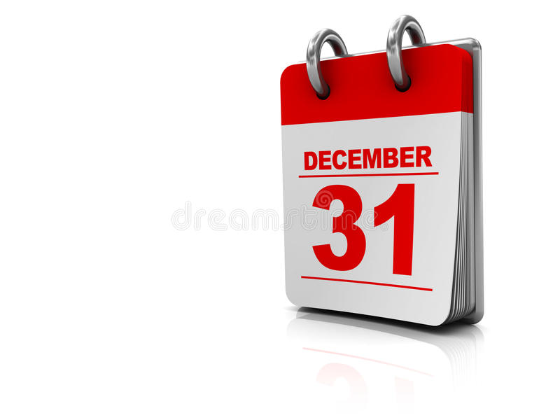 Calendar background. 3d illustration of white background with calendar at right side royalty free illustration