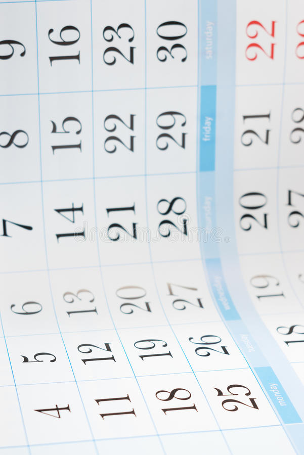 Download Calendar Background Royalty Free Stock Photo - Image: 18748185