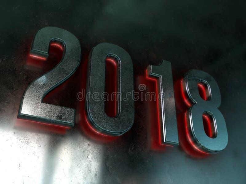 2018 calendar background stock illustration