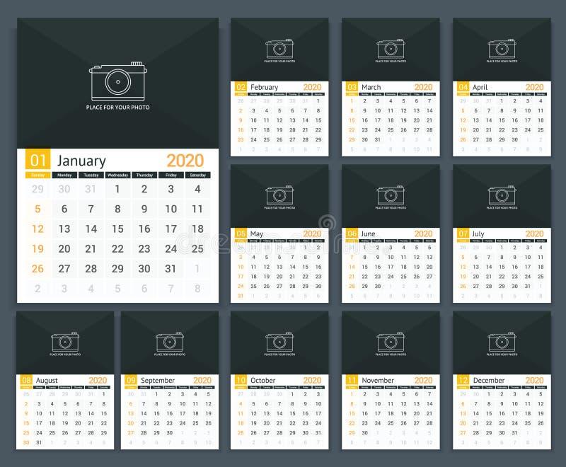 2020 Calendar stock illustration
