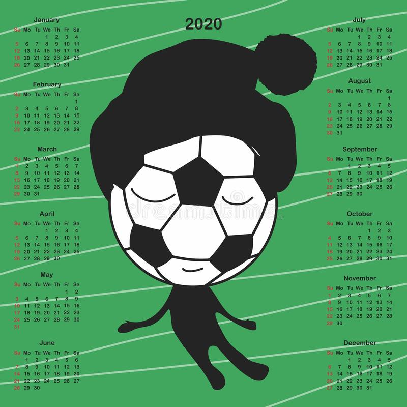 Calendar for 2020. CDR version is available too vector illustration