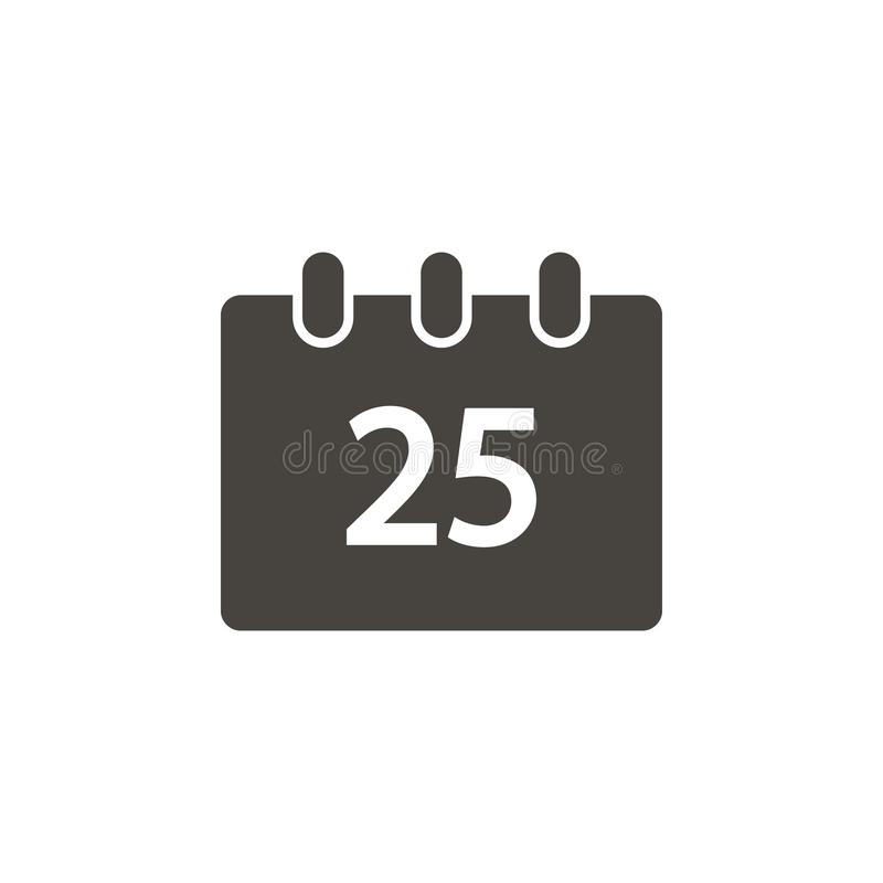 Calendar, Christmas, event vector icon. Simple element illustrationCalendar, Christmas, event vector icon. Material concept vector. Illustration. on white vector illustration