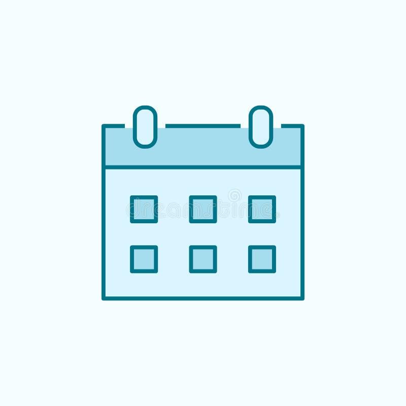 Calendar 2 colored line icon. Simple colored element illustration. calendar outline symbol design from web icons set on blue. Background stock illustration