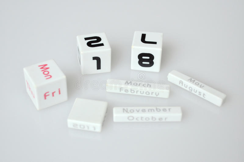 Download Calendar cubes stock image. Image of auguest, objects - 17806073