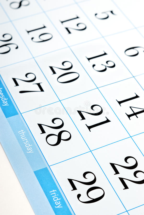 Download Calendar Dates Royalty Free Stock Images - Image: 18737699
