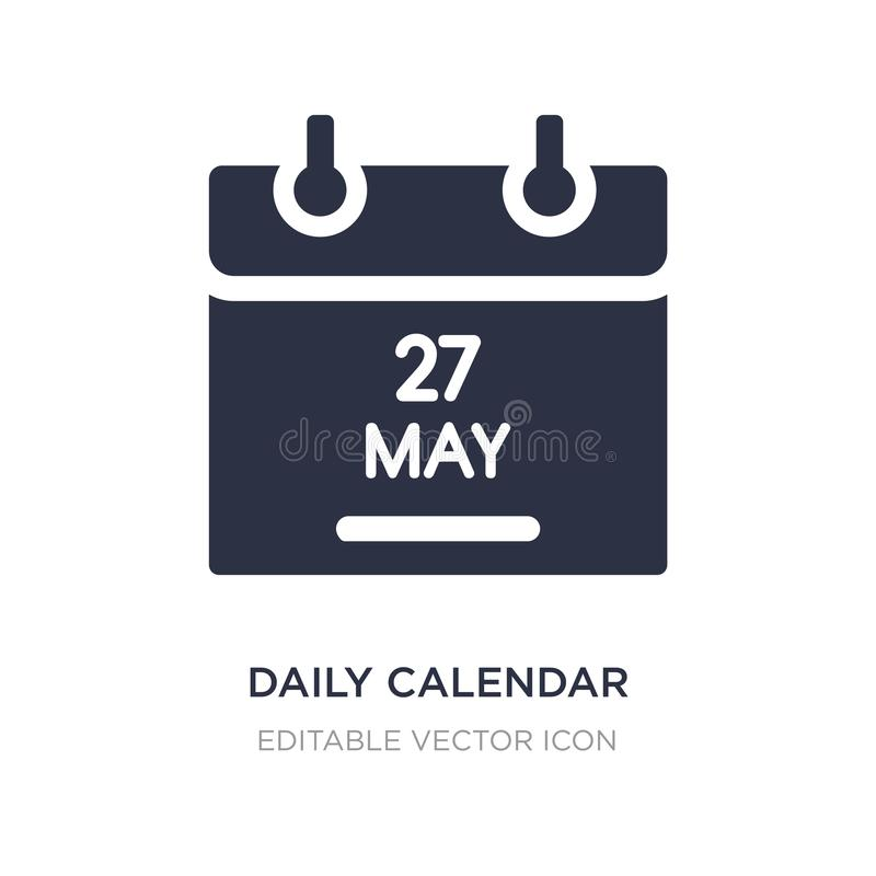daily calendar day 14 icon on white background. Simple element illustration from UI concept stock illustration