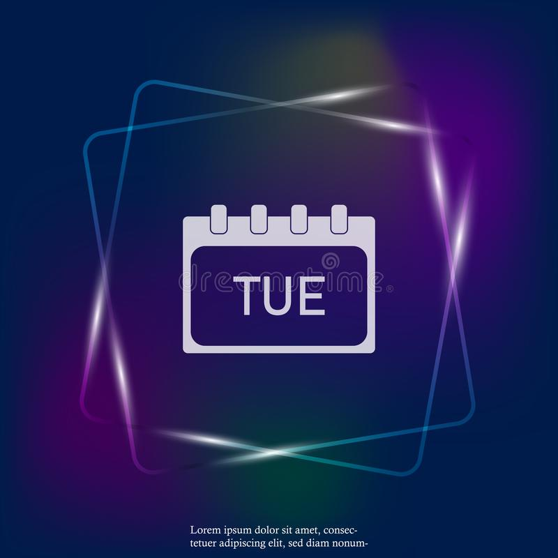 Calendar day of the week Thursday. Vector neon light illustration done. Layers grouped for easy editing illustration. For your des. Ign vector illustration