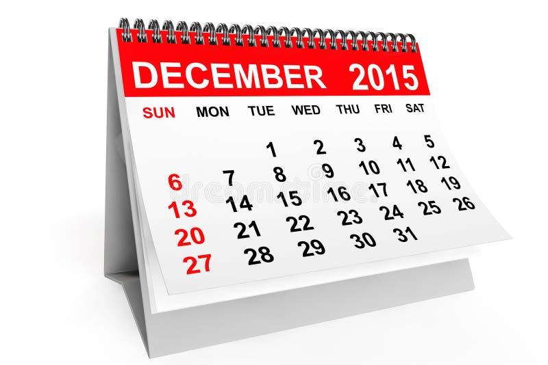 Download Calendar December 2015 stock illustration. Illustration of gray - 61630818