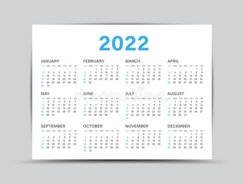 Wall Calendar 2022.Calendar 2022 Template 12 Months Yearly Calendar Set In 2022 Planner Wall Calendar Vector Stock Vector Illustration Of Flyer Month 205227077