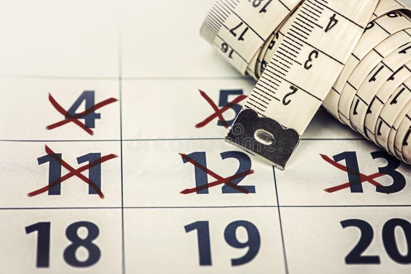 The Calendar Diet stock photography