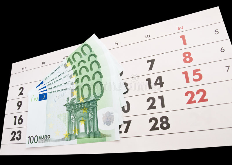 Calendar and euro royalty free stock photography