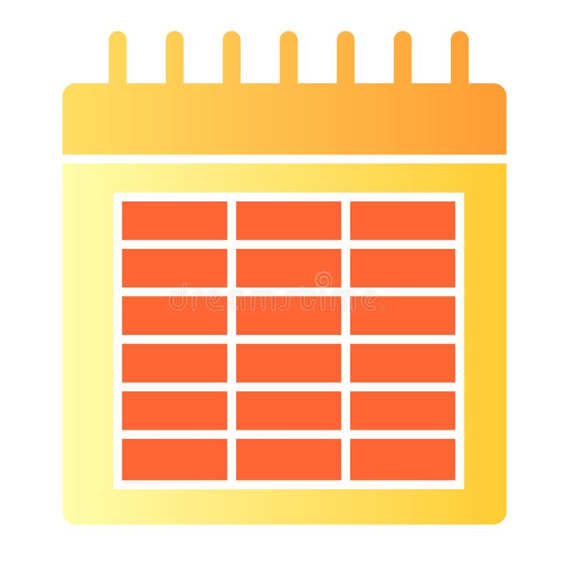 Calendar flat icon. Date color icons in trendy flat style. Month gradient style design, designed for web and app. Eps 10.  stock illustration