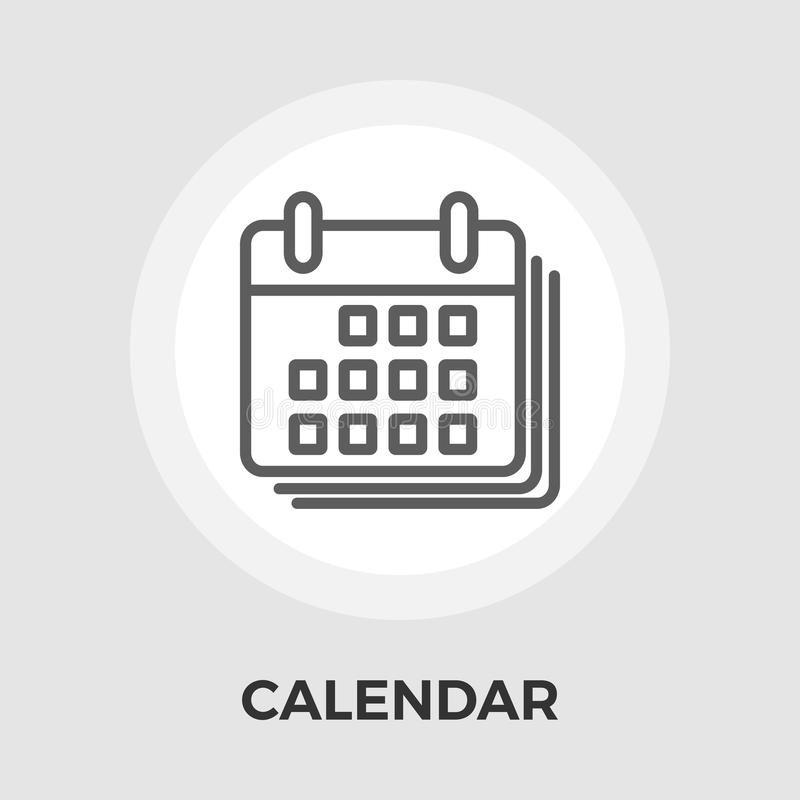 Calendar Flat Icon. Calendar Icon Vector. Flat icon isolated on the white background. Editable EPS file. Vector illustration royalty free illustration