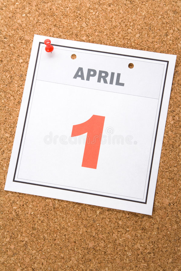 Calendar Fools' Day royalty free stock image