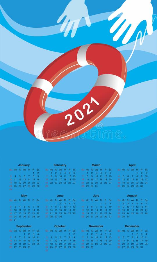 Free Calendar For 2021 Stock Photography - 173910302
