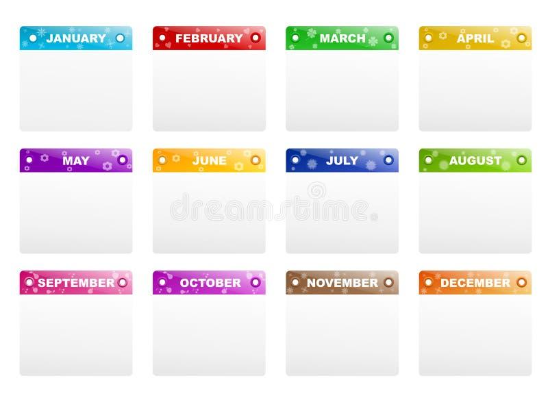 Download Calendar frames stock vector. Image of almanac, gray - 23204839