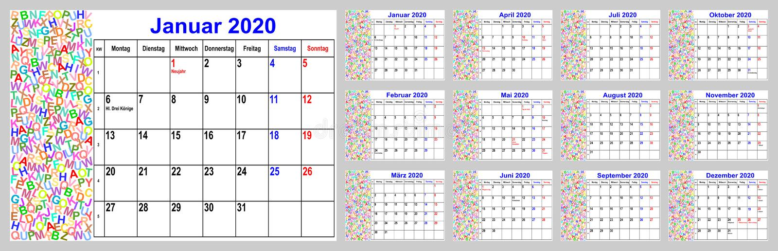 Calendrier 2020 Side Car Cross.Single Months Stock Illustrations 123 Single Months Stock