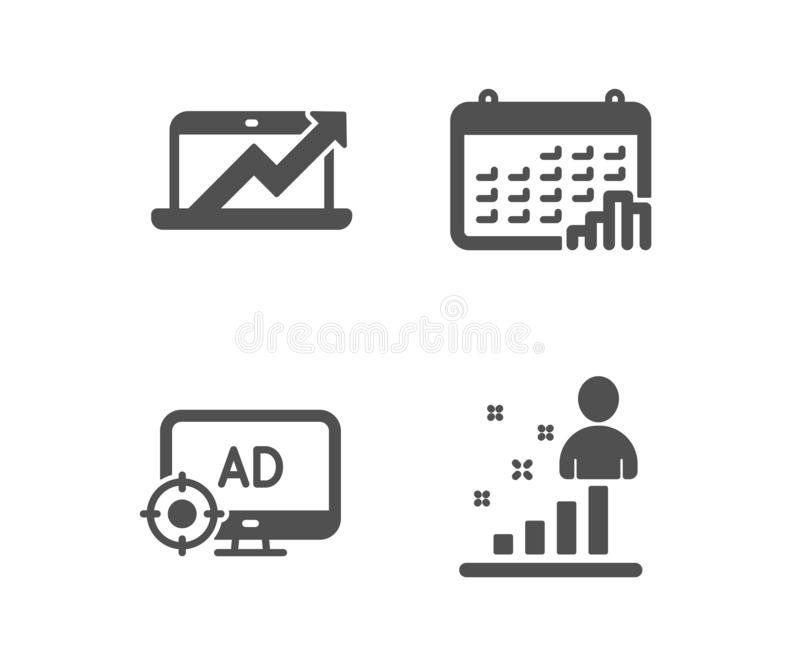 seo vector icon with laptop and bar graph stock vector