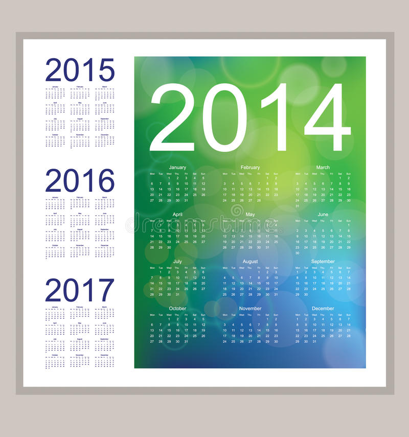 Download Calendar 2014 Royalty Free Stock Image - Image: 33470466