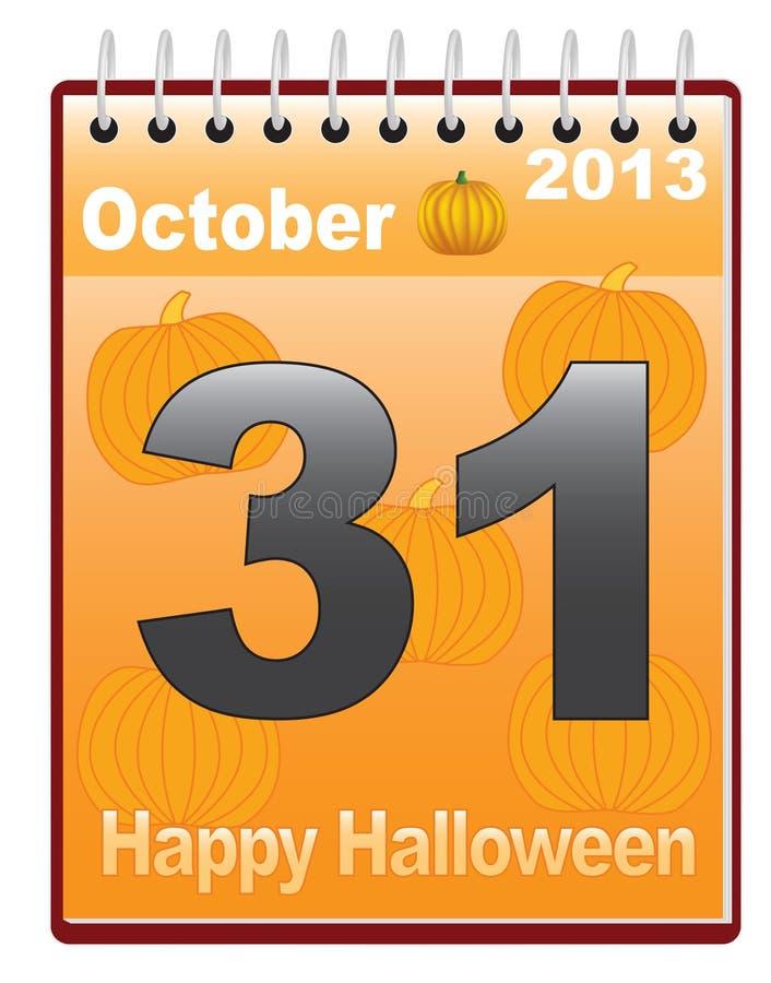 Calendar With Halloween Date Stock Vector - Image: 27957770