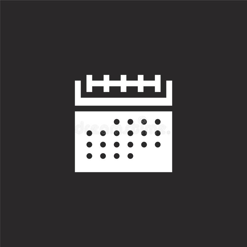 calendar icon. Filled calendar icon for website design and mobile, app development. calendar icon from filled marketing collection stock illustration