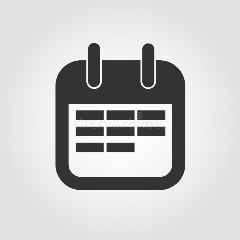 Calendar Design Icon : Calendar icon flat design stock vector illustration of