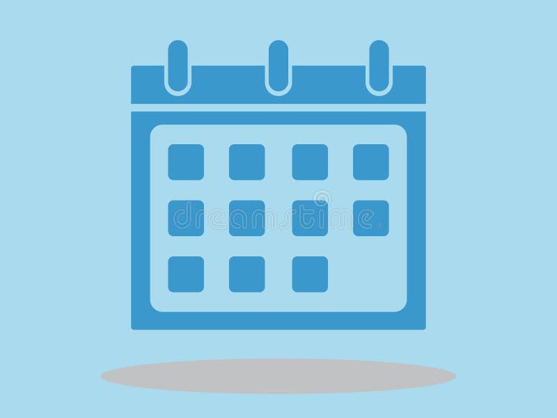 Calendar icon, illustration, minimal design royalty free illustration