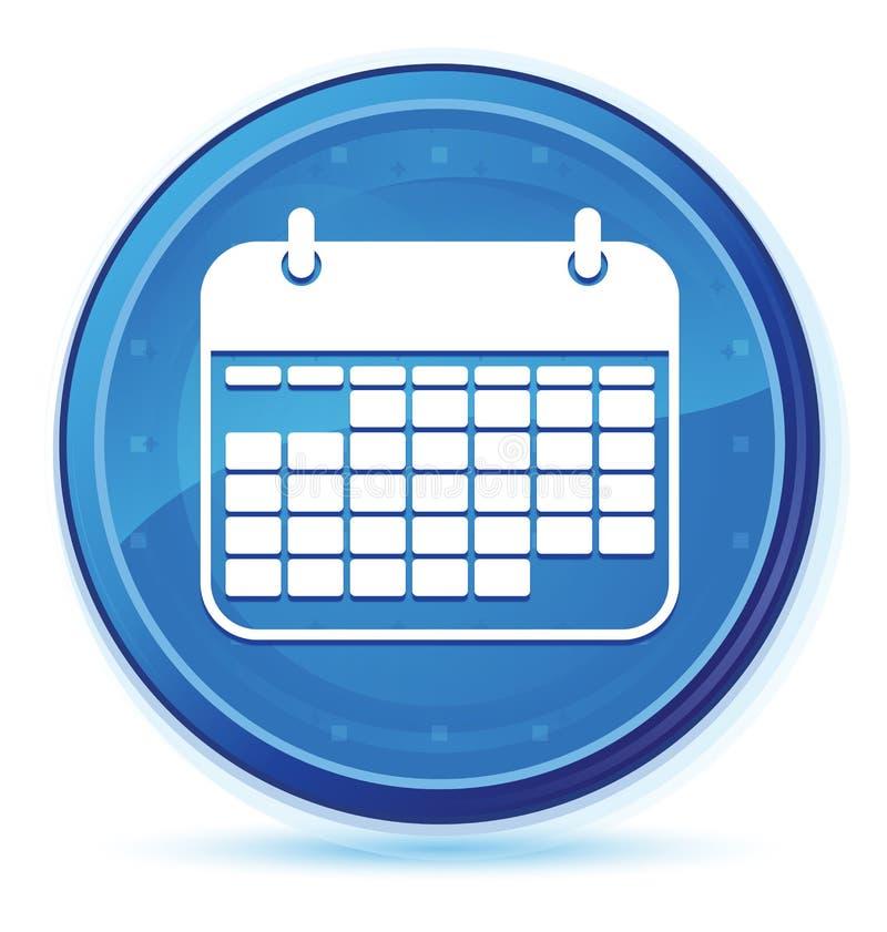 Calendar icon midnight blue prime round button. Calendar icon isolated on midnight blue prime round button abstract illustration vector illustration