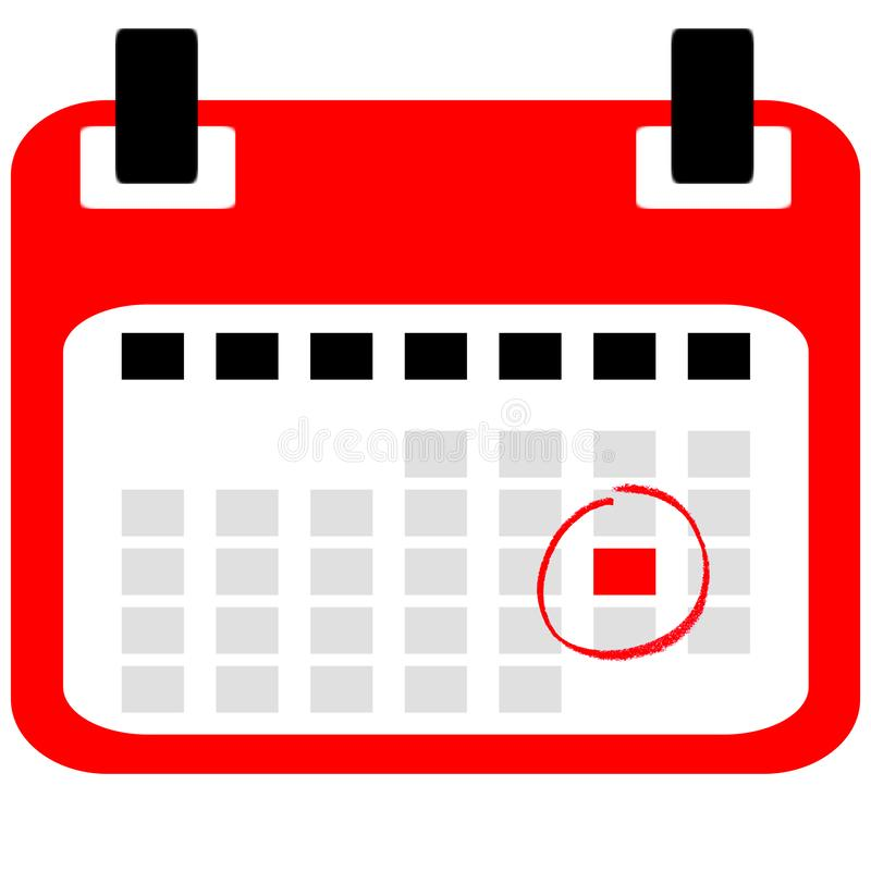 Calendar Icon with Reminder royalty free illustration