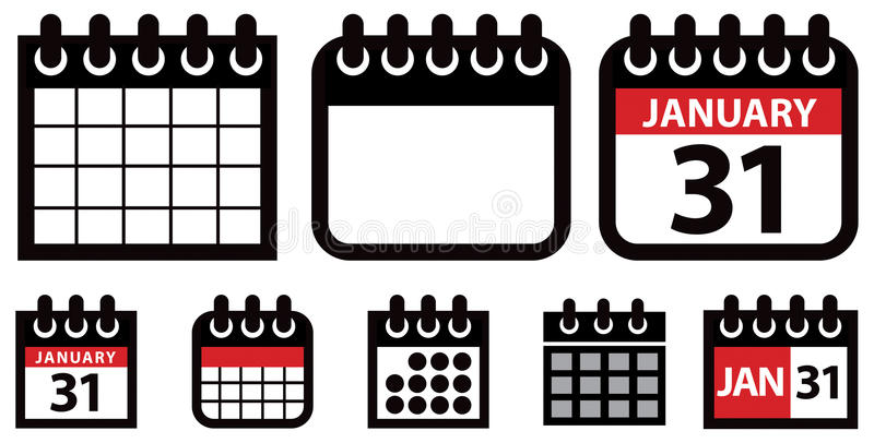 Calendar Web Icon : Calendar icon set stock vector illustration of icons