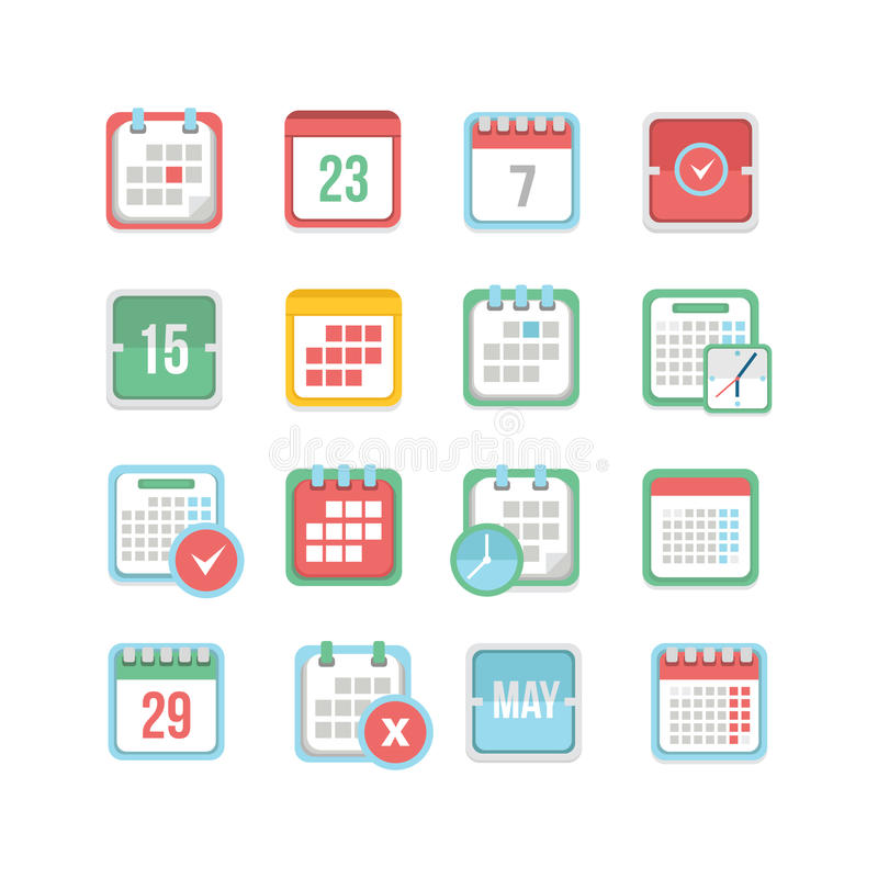 Calendar Icon Set royalty free illustration