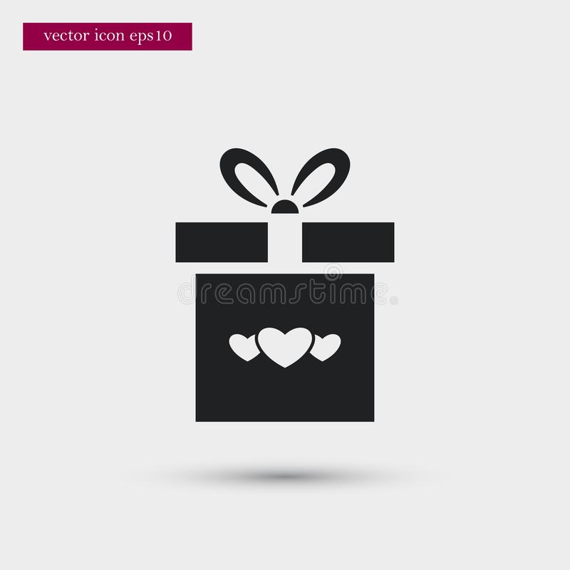 Calendar icon. Simple romance element illustration. Valentine symbol design from love collection. Can be used in web and mobile royalty free illustration