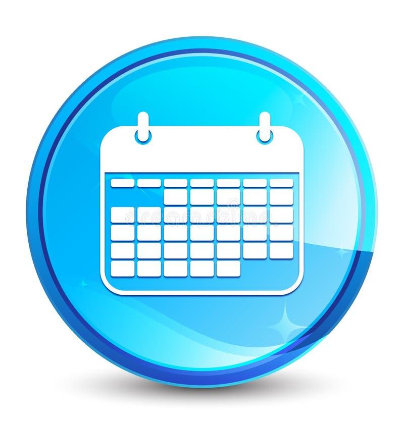 Calendar icon splash natural blue round button. Calendar icon isolated on splash natural blue round button abstract illustration royalty free illustration
