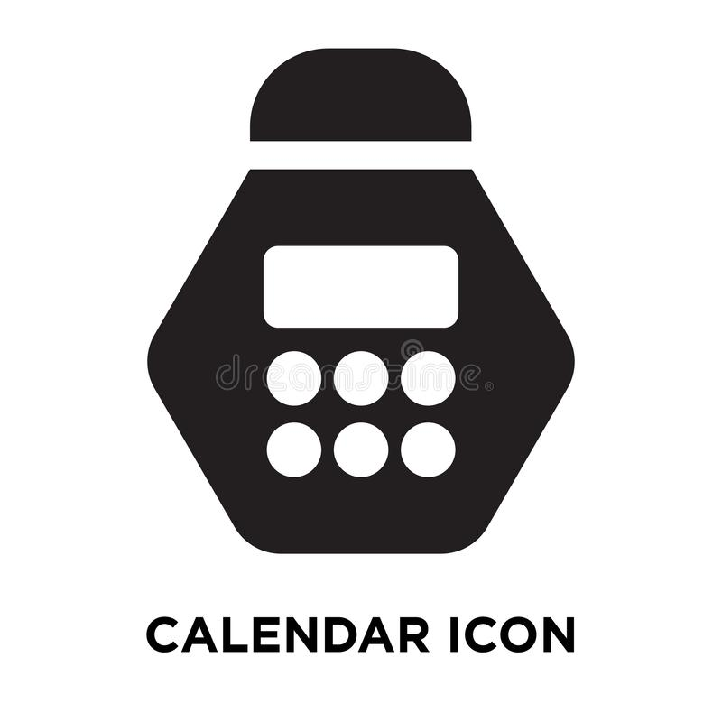 Calendar icon vector isolated on white background, logo concept stock illustration