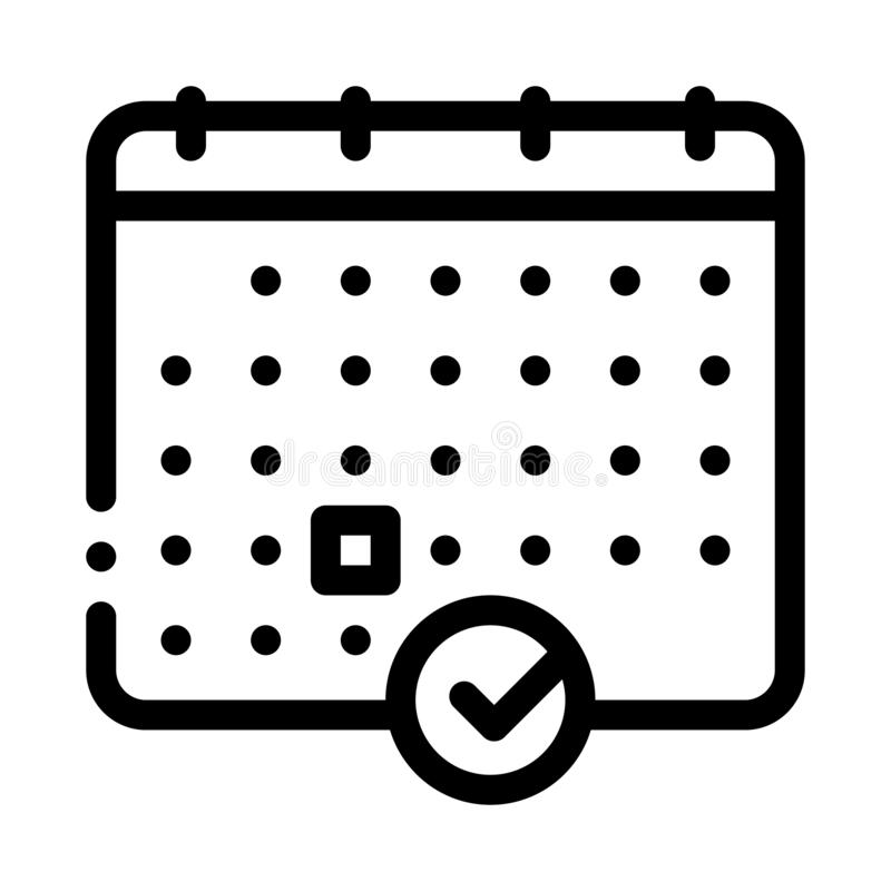 Calendar Icon Vector Outline Illustration. Calendar Icon Vector. Outline Calendar Sign. Isolated Contour Symbol Illustration vector illustration
