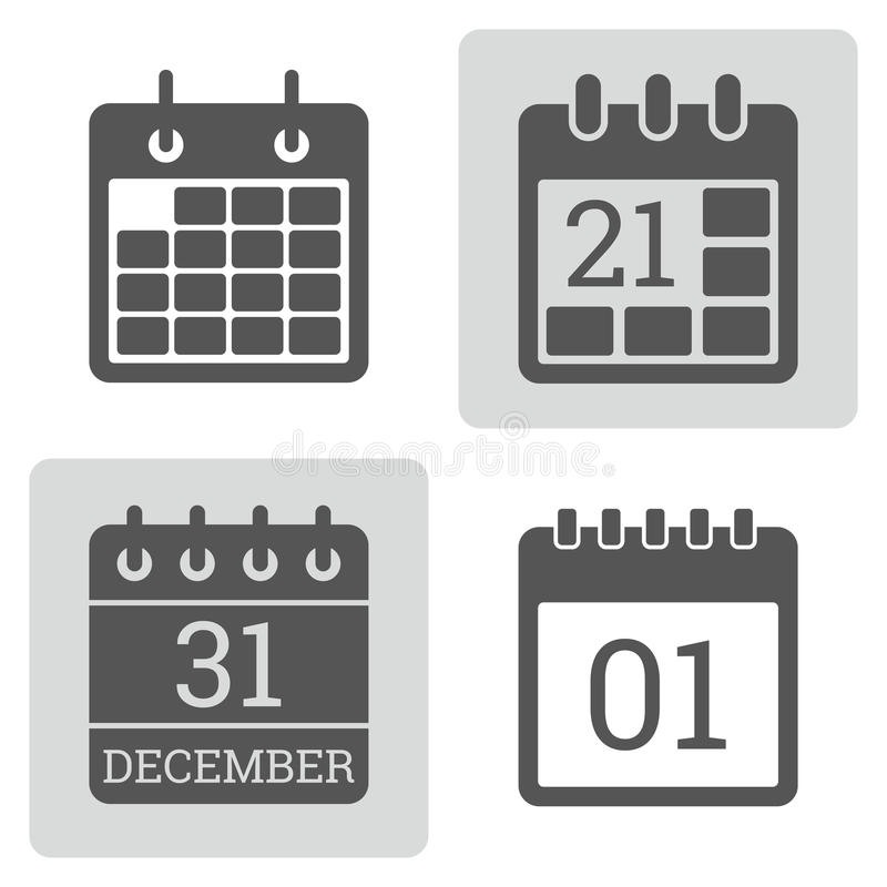 Calendar Icon vector set. vector illustration
