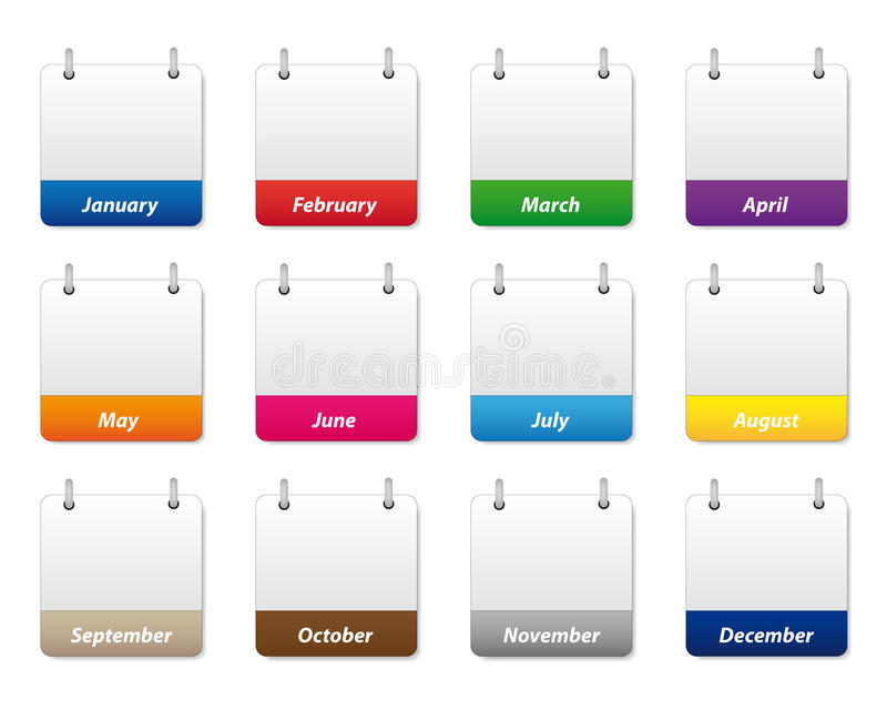 Calendar Icons Set Royalty Free Stock Images