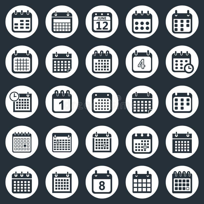 Calendar icons vector vector illustration