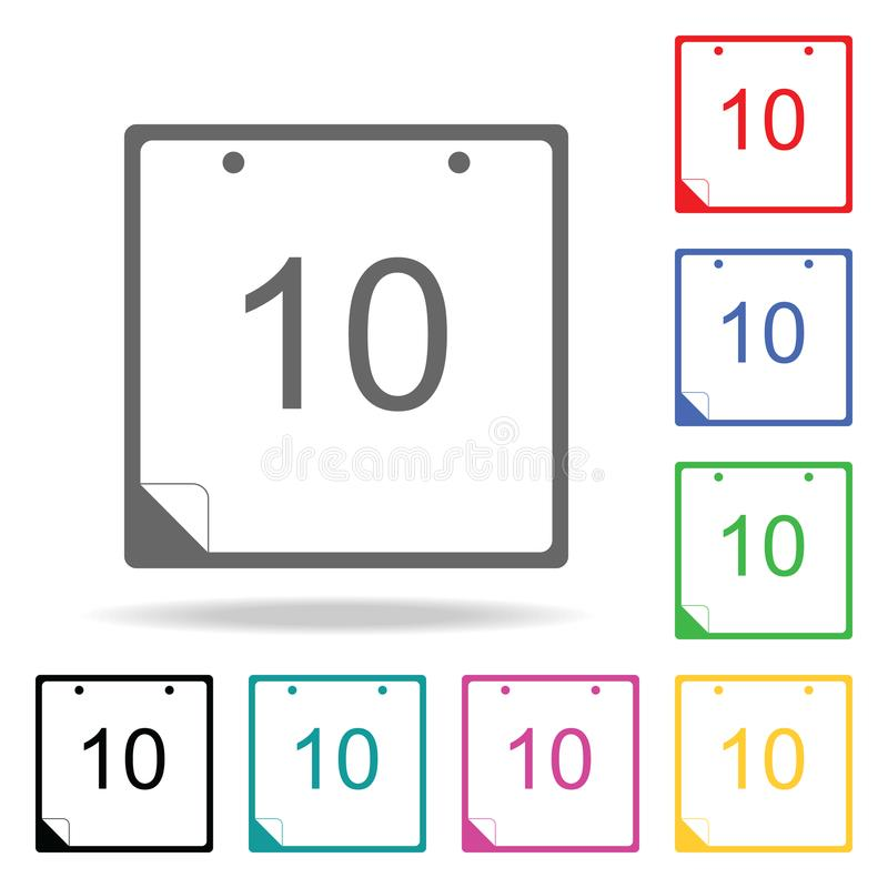 Calendar image icon. Elements in multi colored icons for mobile concept and web apps. Icons for website design and development, ap royalty free illustration