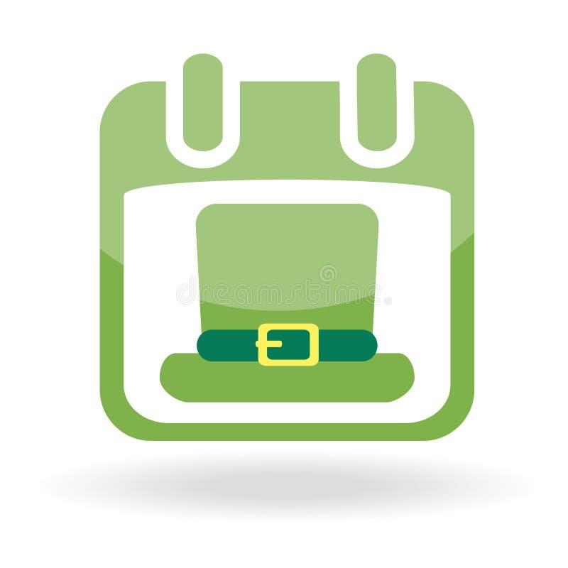 Download Calendar with irish hat stock vector. Image of culture - 13158299