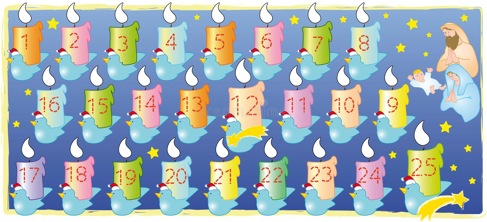 calendar jul stock illustrationer