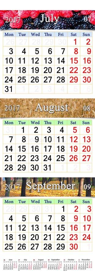 calendar july and october